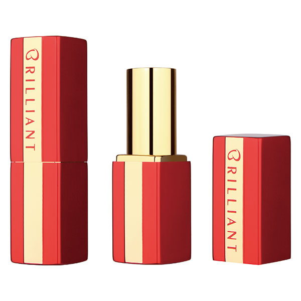 logo red square lipstick tube BL7242